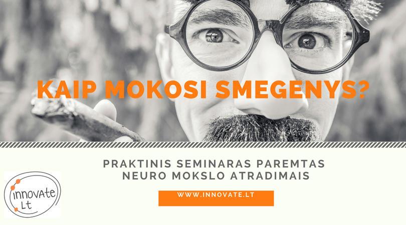 seminaras kaip mokosi smegenys