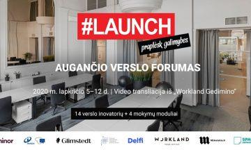 """Forume """"LAUNCH 2020""""  kalbėsime apie dizaino mąstyseną"""